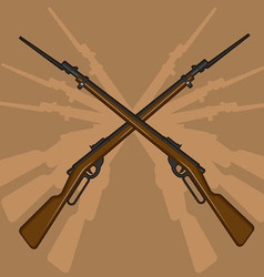 World war ii rifle with bayonet vector