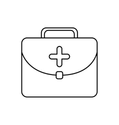 Medical kit health care icon graphic vector