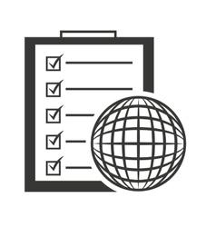 Checklist clipboard paper isolated icon vector