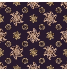 Seamless pattern rich dear background vector