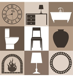 Furniture Set vector image