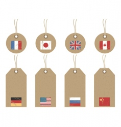 World flag tags vector