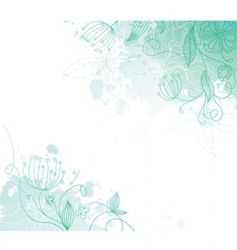 Floral back splash vector