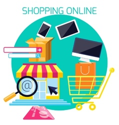 Internet shopping process and delivery vector
