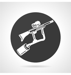 Paintball marker black round icon vector