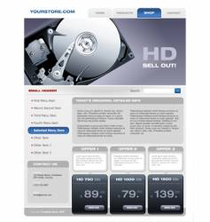 Hard disk promotional brochure vector