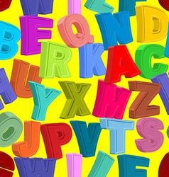 Color letters seamless pattern childrens alphabet vector