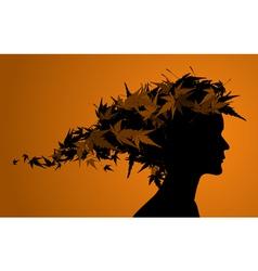 Autumn floral girl vector
