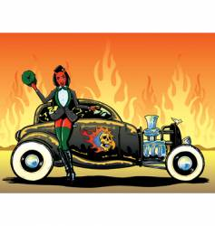 Hotrod to hell vector