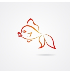 Hand drawn goldfish isolated on white background vector