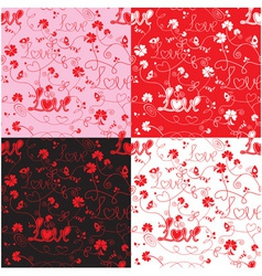 Seamless pattern for Valentines Day with word LOVE vector image