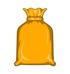 Packing bag icon cartoon style vector