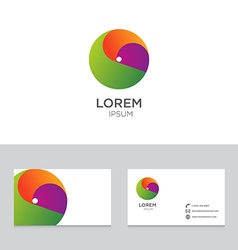Logo icon design elements business card template vector