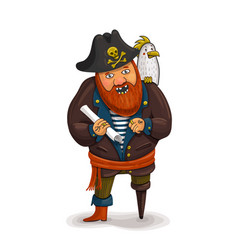 An of a friendly cartoon pirate vector