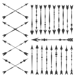 Arrow clip art set in on white background vector image vector image