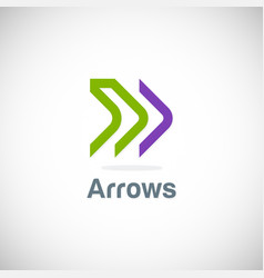 arrow line forward logo vector image