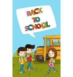 Back to school education kids with social bubble vector