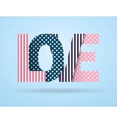 Background vintage letter love vector