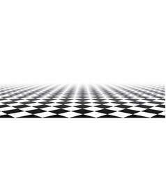 Black and white perspective checkered banner vector