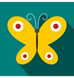 Butterfly icon flat style vector image