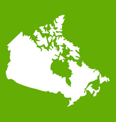 canada map icon green vector image