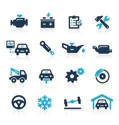 Car service icons azure series vector