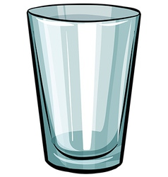 Clear glass vector image vector image