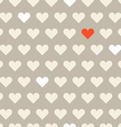 Different hearts shapes seamless pattern vector image vector image