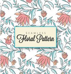 elegant-seamless-floral-pattern vector image