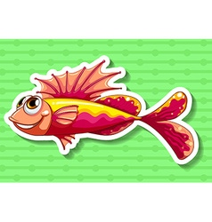 Fancy fish vector image