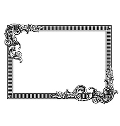 Floral label frame 20 vector