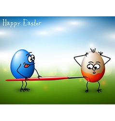 Funny easter eggs - Happy Easter Card vector image vector image