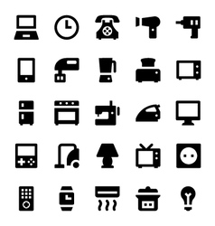 Home appliances icons 1 vector