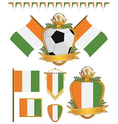 Ivory coast flags vector
