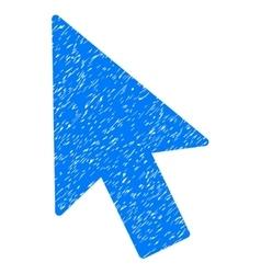 Mouse cursor grainy texture icon vector