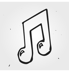 music note isolated hand drawn vector image