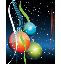 new year decoration ball vector image