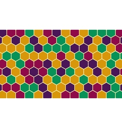 Retro hexagonal geometric background vector