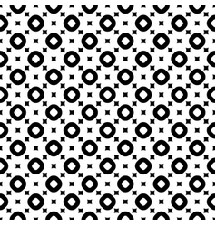 seamless pattern with smooth squares and rings vector image