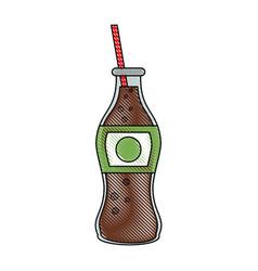 Soda glass bottle vector