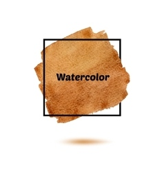 Splash watercolor isolated on white background vector image