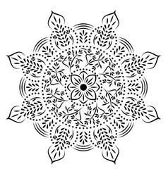stencil mandala vector image vector image