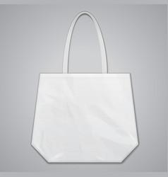 Textile fabric cotton handbag eco plastic bag vector