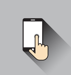 Touch screen icon vector image
