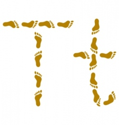 Traces letter t vector