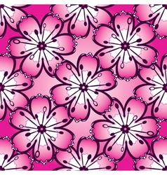 Vintage pink seamless pattern vector image