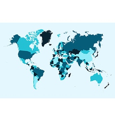World map blue countries EPS10 file vector image