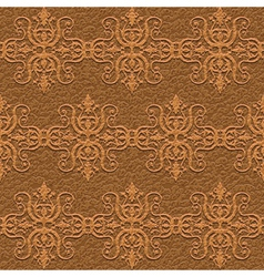 leather carving ornament vector image