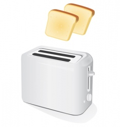 Toaster with toast vector