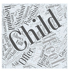 Do you listen to your child word cloud concept vector